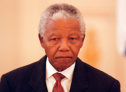 NELSON ROLIHLAHLA MANDELA (July 18, 1918 - December 5, 2013) world renowned civil rights activist and world leader dies at 95. Mandela emerged from prison to become the first black President of South Africa in 1994. As a symbol of peacemaking, he won the 1993 Nobel Peace Prize. Joined his countries anti-apartheid movement in his 20s and then the ANC (African National Congress) in 1942. For next 20 years, he directed a campaign of peaceful, non-violent defiance against the South African government and its racist policies and for his efforts was incarcerated for 27 years. PICTURED: Mar 14, 1999 - Sweden - President NELSON MANDELA. (Credit Image: © Aftonbladet/IBL/ZUMAPRESS.com)