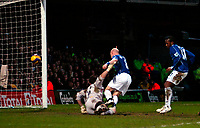 Photo: Ed Godden/Sportsbeat Images.<br /> Watford v Everton. The Barclays Premiership. 24/02/2007.<br /> Everton's Manuel Fernandes (R), scores the first goal.