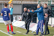 Tables have turned, Brian Mclaughlin Scotland U17 Head Coach is now keen to get things moving during the U17 European Championships match between Scotland and Russia at Simple Digital Arena, Paisley, Scotland on 23 March 2019.