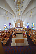 Israel, Tel Aviv, Interior of the Heichal Yehuda - The hall of Judah sepharadic synagogue .