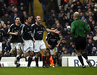 Picture: Henry Browne.<br /> Date: 14/03/2004.<br /> Tottenham Hotspur v Newcastle United FA Barclaycard Premiership.<br /> <br /> Alan Shearer pleads with the ref for a penalty.