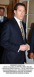VISCOUNT LINLEY at a dinner in London on 24th May 2004.PUJ 295