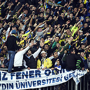 Fenerbahce Ulker's supporters during their Euroleague Basketball Top 16 Game 2 match Fenerbahce Ulker between Power Electronics Valencia at Sinan Erdem Arena in Istanbul, Turkey, Thursday, January 27, 2011. Photo by TURKPIX