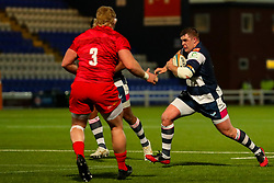 James Harper of Coventry Rugby (dual-registered with Sale Sharks) charges forward - Mandatory by-line: Nick Browning/JMP - 26/02/2021 - RUGBY - Butts Park Arena - Coventry, England - Coventry Rugby v Saracens - Friendly