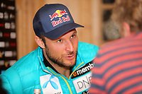 Alpint<br /> 24.10.2014<br /> Sölden Østerrike<br /> Foto: Gepa/Digitalsport<br /> NORWAY ONLY<br /> <br /> FIS World Cup season opening, Rettenbachferner, preview, press conference of the Norwegian Ski Federation. Image shows Aksel Lund Svindal (NOR).