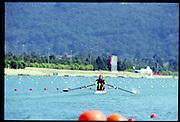 Sydney. AUSTRALIA, Women's, Olympic, Single Sculls USA W1X Monica TRANEL - MICHINI.  2000 Olympic Games - Olympic Regatta; Penrith, NSW. [Mandatory Credit: Peter Spurrier: Intersport Images] Sydney International Regatta Centre (SIRC) 2000 Olympic Rowing Regatta00085138.tif