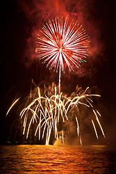 fireworks, Fourth of July - Independence Day, Kailua Bay, Kailua Kona, Hawaii, Pacific Ocean