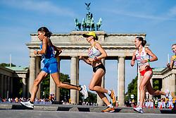 August 12, 2018 - Berlin, GERMANY - 180812 Fabienne Amrhein of Germany runs past the Brandenburger Tor in the men's marathon final during the European Athletics Championships on August 12, 2018 in Berlin..Photo: Vegard Wivestad GrÂ¿tt / BILDBYRN / kod VG / 170206 (Credit Image: © Vegard Wivestad Gr¯Tt/Bildbyran via ZUMA Press)