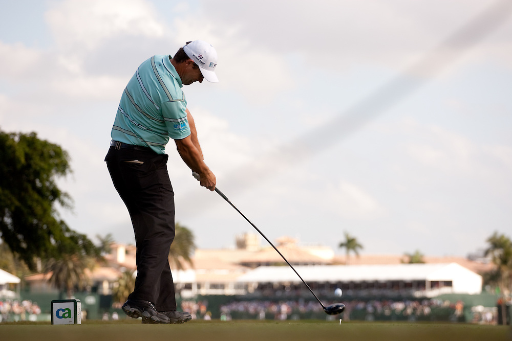 DORAL, FL - MARCH 12:  Padraig Harrington hits his shot during the first round of the 2009 WGC-CA Championship at Doral Golf Resort and Spa in Doral, Florida on Thursday, March 12, 2009. (Photograph by Darren Carroll) *** Local Caption *** Padraig Harrington