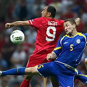 Kazakhstan's Mark GURMAN (R) during their UEFA EURO 2012 Qualifying round Group A soccer match Turkey betwen Kazakhstan at TT Arena Istanbul September 02, 2011. Photo by TURKPIX