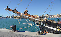 Yacht, Eye of the Wind,  moored at new marina, Malaga, Andalusia, Spain, December, 2013, 201312203040<br />