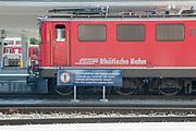 Rhaetian Railway Station, Samedan, Engadin valley, Switzerland