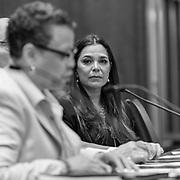 Activist Kamala Lopez observes State Senator Pat Spearman (D-AZ)
