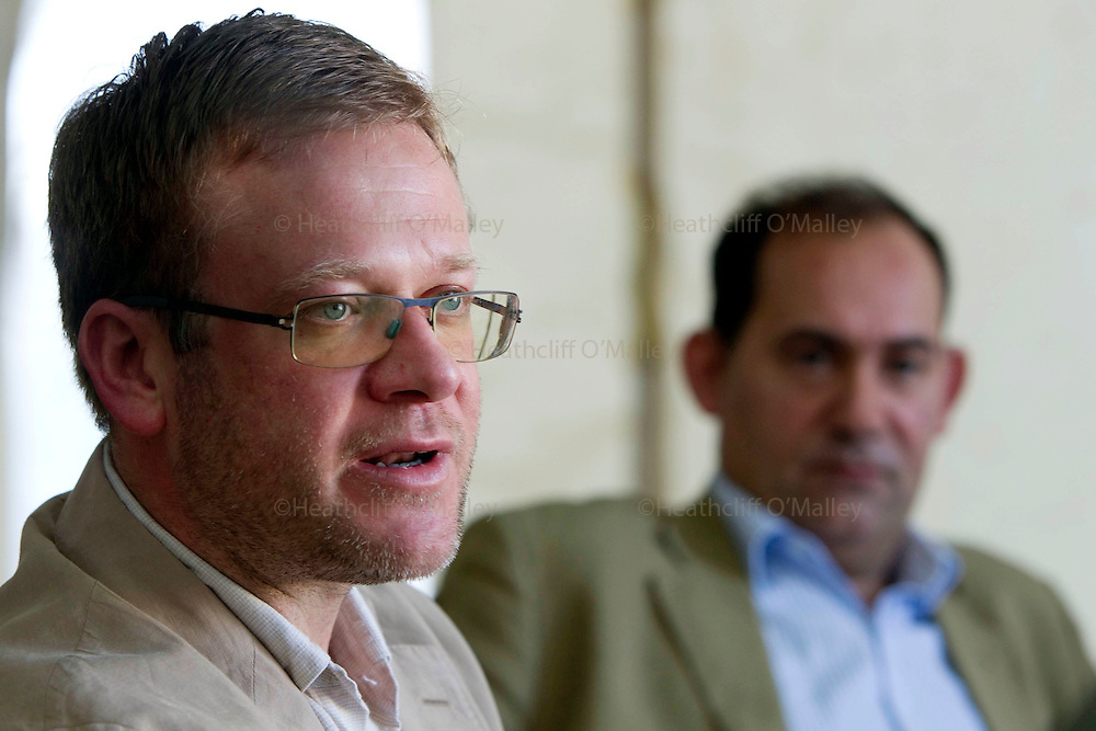 Mcc0030300 . Daily Telegraph..Jason McCue, of the UK based Libyan Victims Initiative, who represents British Victims of IRA attacks. .He's presently in Benghazi as a guest of the Rebel Government...Benghazi 4 April 2011