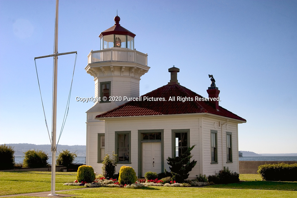 This tiny lighthouse is located on Mukilteo on Puget Sound in Washington State.