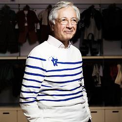 PARIS, FRANCE. JANUARY 4, 2011. Christian Blanckaert, Petit Bateau's CEO, in the brand's Champs-Elysee shop. (photo by Antoine Doyen)