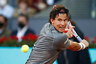 Dominic Thiem of Austria in action during his Men's Singles match, round of 32, against Marcos Giron of United States on the Mutua Madrid Open 2021, Masters 1000 tennis tournament on May 4, 2021 at La Caja Magica in Madrid, Spain - Photo Oscar J Barroso / Spain ProSportsImages / DPPI / ProSportsImages / DPPI