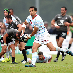 Dan Carter of Racing 92 during the pre-season match between Stade Toulousain Toulouse and Racing 92 at  on August 18, 2017 in Lannemezan, France. (Photo by Manuel Blondeau/Icon Sport)