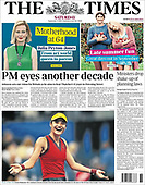 September 11, 2021 - UK: Front-page: Today's Newspapers In United Kingdom