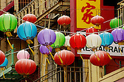 Colorful lanterns in Chinatown in San Francisco