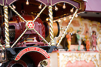 steam traction engine with a pipe organ at Pickering steam fair in Yorkshire