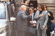 "American actor and Hollywood star Johnny Depp, gestures and waves as he and his legal team leave the Royal Courts of Justice in central London on Tuesday, July 28, 2020.<br /> <br /> An article in the Sun describing Johnny Depp as a ""wife-beater"" was ""one-sided"" and ""not researched at all"", the actor's lawyer told the High Court. In closing submissions for Mr Depp, David Sherborne said the paper acted as ""both judge and jury"". Mr Depp is suing the newspaper's publisher and editor for libel, saying the allegation is ""completely untrue"". (VXP Photo/ Vudi Xhymshiti)"