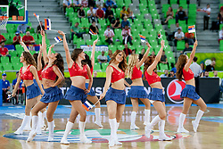 Ladies during basketball match between National teams of France and Serbia in 2nd Round at Day 12 of Eurobasket 2013 on September 14, 2013 in SRC Stozice, Ljubljana, Slovenia. (Photo By Urban Urbanc / Sportida)