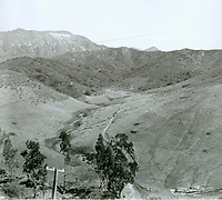 1924 Lake Hollywood & Dam site in the Cahuenga Pass below the Hollywoodland sign