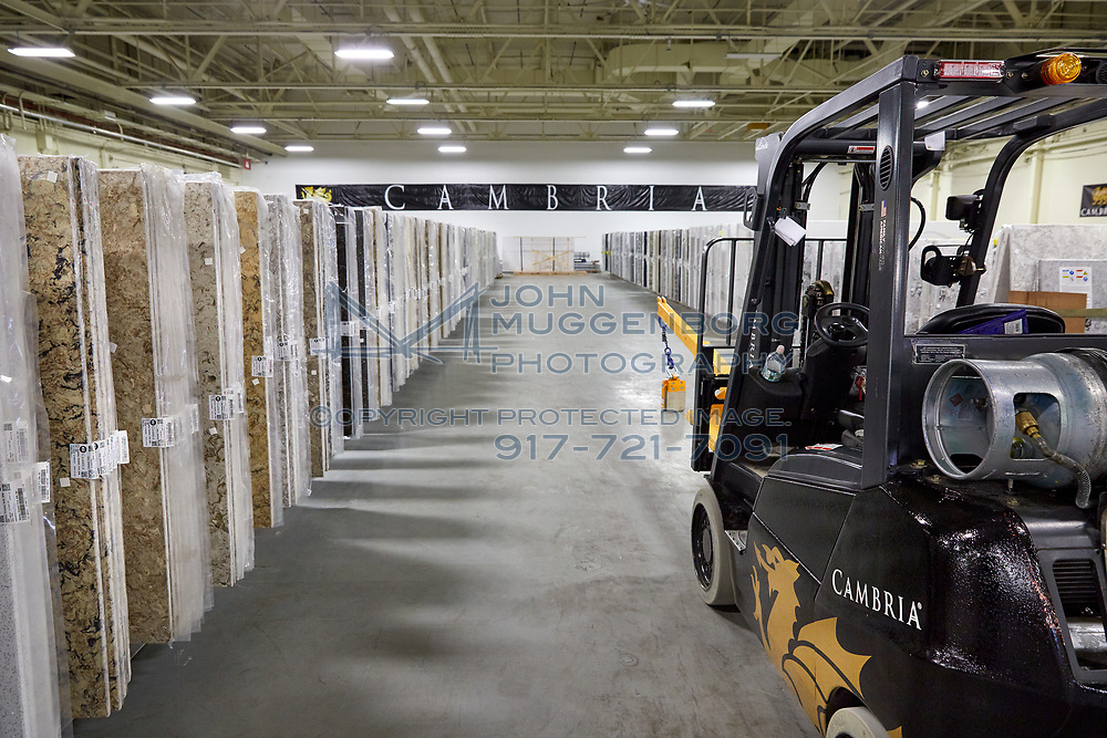 The Cambria Distribution Center in Bethpage NY.<br /> Photograph by John Muggenborg