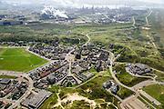 Nederland, Noord-Holland, Wijk aan Zee , 09-04-2014; overzicht IJmuiden Steel Works van Tata Steel vanuit Wjk aan Zee.<br /> Overview IJmuiden Steel Works, part of Tata Steel. <br /> luchtfoto (toeslag op standard tarieven);<br /> aerial photo (additional fee required);<br /> copyright foto/photo Siebe Swart