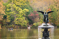Bethesda Fountain at The Lake in Central Park