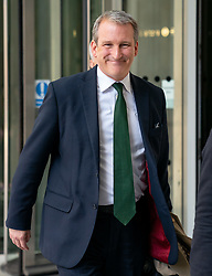 © Licensed to London News Pictures. 12/05/2019. London, UK. Education Secretary Damian Hinds leaving BBC Broadcasting House after appearing on The Andrew Marr Show this morning. Photo credit : Tom Nicholson/LNP