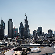 City of London's skyline as seen from the top of the dome of St Paul's Cathedral.