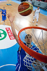 Louis Labeyrle of France during basketball match between National teams of Serbia and Spain in Final match of U20 Men European Championship Slovenia 2012, on July 22, 2012 in SRC Stozice, Ljubljana, Slovenia. (Photo by Matic Klansek Velej / Sportida.com)