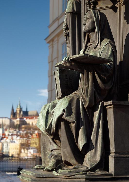 Prague - Statue at Charles Bridge