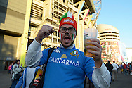 an Italian  supporter outside Twickenham before k/o. Rugby World Cup 2015 pool D match, France v Italy at Twickenham Stadium in London on Saturday 19th September 2015.<br /> pic by John Patrick Fletcher, Andrew Orchard sports photography.
