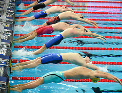 HANGZHOU, Dec. 16, 2018  Players compete during Men's 4X100m Medley Relay Final at 14th FINA World Swimming Championships (25m) in Hangzhou, east China's Zhejiang Province, on Dec. 16, 2018.Team USA claimed the title with 3:19.98. (Credit Image: © Xinhua via ZUMA Wire)