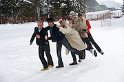 MY CUCKOO TEAM, Treasure Hunt in aid of the Knights of Malta,  St. Moritz, Switzerland. 23 January 2009 *** Local Caption *** -DO NOT ARCHIVE-© Copyright Photograph by Dafydd Jones. 248 Clapham Rd. London SW9 0PZ. Tel 0207 820 0771. www.dafjones.com.<br /> MY CUCKOO TEAM, Treasure Hunt in aid of the Knights of Malta,  St. Moritz, Switzerland. 23 January 2009