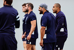 John Afoa and Kyle Sinckler as Bristol Bears start to use their new almost completed Training centre - Rogan/JMP - 08/07/2020 - RUGBY UNION - Beggar Bush Lane - Bristol, England.