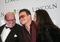Paul McGuinness, Bono, Ali Hewson, at the Lincoln film premiere Savoy Cinema in Dublin, Ireland. Sunday 20th January 2013.