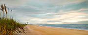 A panoramic view of the coastline near Cape Lookout, North Carolina