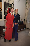 VALERIA NAPOLEONE; TIPHAINE DE LUSSIS, , Stefania Pramma launched her handbag brand PRAMMA  at the Kensington residence of her twin sister, art collector Valeria Napoleone.. London.  29 April 2015