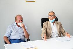 DA SX AVVOCATO EUGENIO GALLERANI E ANDREA GARAU PROCURATORE CAPO<br /> CONFERENZA STAMPA PROCURA FERRARA PROBLEMA PERSONALE SCARSO