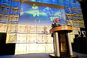 Dallas Morning News publisher and CEO Jim Moroney welcomes guests to the third-annual SportsDayHS' football Heroes Banquet at the Omni Hotel on Thursday, January 17, 2013 in Dallas, Tx. (Cooper Neill/The Dallas Morning News)