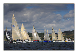The Brewin Dolphin Scottish Series, Tarbert Loch Fyne..Class two start with Prime Suspect in the foreground..