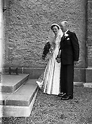 30/03/1957<br /> 03/30/1957<br /> 30 March 1957<br /> Wedding of Lee - Hill at Finglas Parish Church (Church of Ireland) and the Spa Hotel, Lucan, Dublin. Bride being escorted by father.