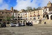 Plaza Mayor main square, historic medieval town of Trujillo, Caceres province, Extremadura, Spain