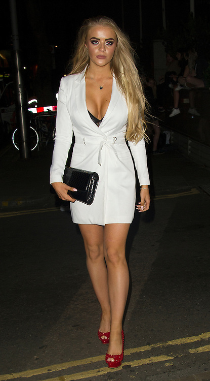 EXCLUSIVE<br /> Ex On The Beach star Megan Clark out in Kensington Last nigh<br /> ©Exclusivepix Media