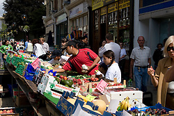 Dover/Kent/England - Fruit market. Dover is a major port on the south-east coast of England. Situated in the county of Kent, it faces France across the English Channel.