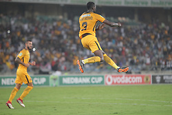 10032018 (Durban) Kaizer Chiefs player Eric Mathoho celebrates after scoring a goal against Stellenbosch FC to advance to the next round of the Nedbank Cup when hosting Stellenbosch FC at the Moses Mabhida Stadium. Amakhosi went down 3-1 to arch-rivals Orlando Pirates in a tense Soweto derby match last weekend where they lost ground in their league title chase.Picture: Motshwari Mofokeng/African News Agency/ANA